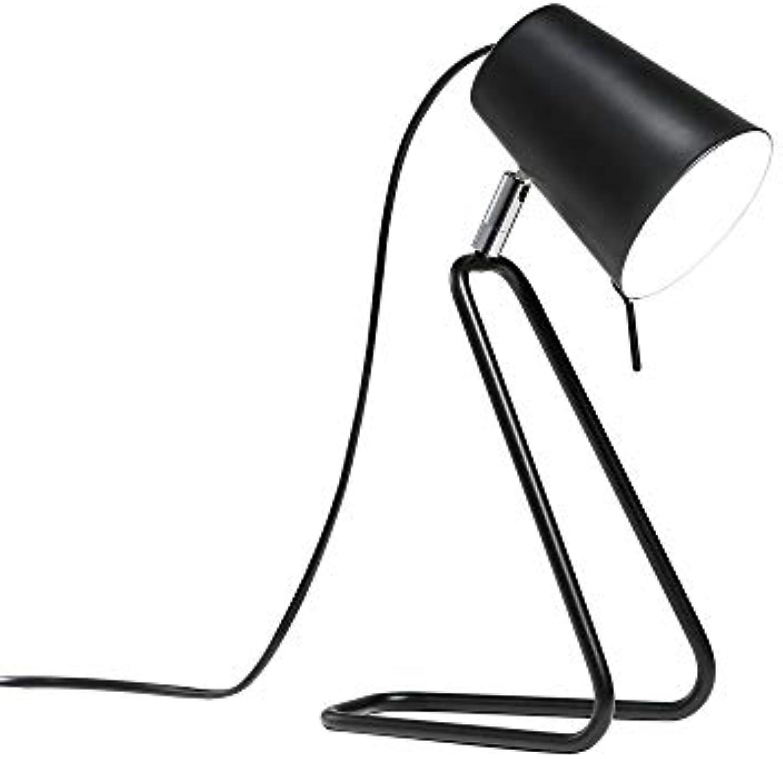5 Watt Eisen Tischlampe Taste Schalter Schwarz Schreibtischlampe Moderne Leselampe Bett Energiesparlampe
