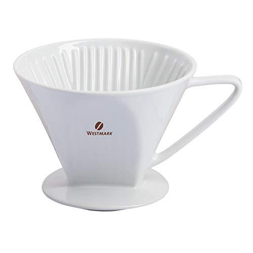 Westmark Porzellan-Kaffeefilter/Filterhalter, Filtergröße 4, Für bis zu 4 Tassen Kaffee, Brasilia, Porzellan, 24482260