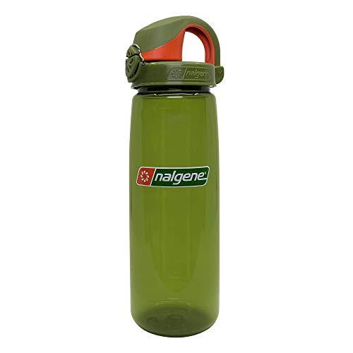 Nalgene On the Fly Botella de agua BPA, enebro con enebro/naranja, 24 onzas