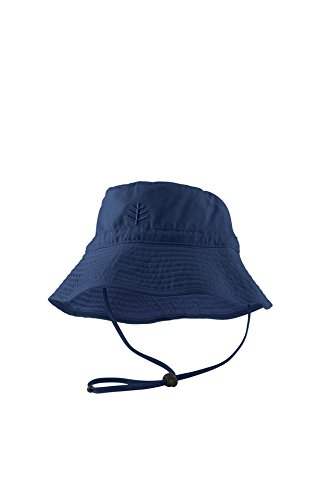 Coolibar Jungen Chin Strap Sonnenhut UV-Schutz 50, Dunkelblau, 2-3 Jahr