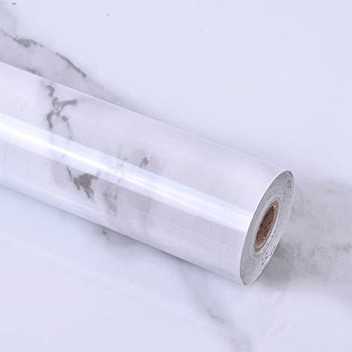 Shackcom Papel Adhesivo para Muebles Marmol DIY 60 x 300cm,Vinilos Pintado Autoadhesivo...