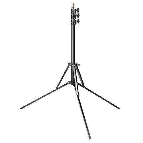 Neewer Studio Fotografico Supporto con Luce d'anello Aggiustabile 35-83 pollici/88-211 centimetri in alluminio, Supporto di Sostegno per Softbox, Ombrello, Luce,Riflettore, ecc