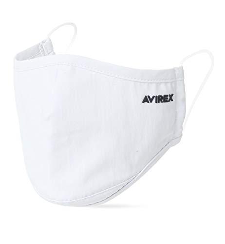 [アビレックス] マスク メンズ ロゴプリント 洗えるマスク ファッションマスク ホワイト Free