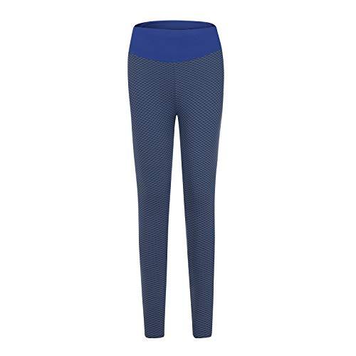 SHOBDW Leggings Mujer Cintura Alta Mallas Pantalones Deportivos Leggins con Bolsillos para Yoga Running Malla Empalme Respirable Fitness Abdomen Medias(Armada,S)