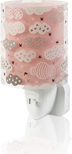 Dalber Nachtlicht Steckdose Kind Baby, LED Nachtlicht für Kinderzimmer, Clouds Wolken Rosa