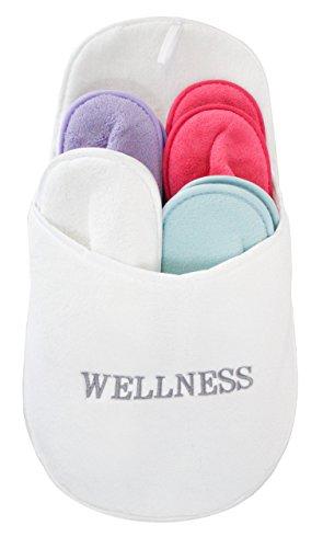 Gäste- Hausschuhe Pantoffel Set - Wellness 3270