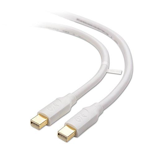 Cable Matters Mini DisplayPort to Mini Display Port Kabel (Mini DP Kabel) in Weiß 1,8m - 4K Auflösung fähig