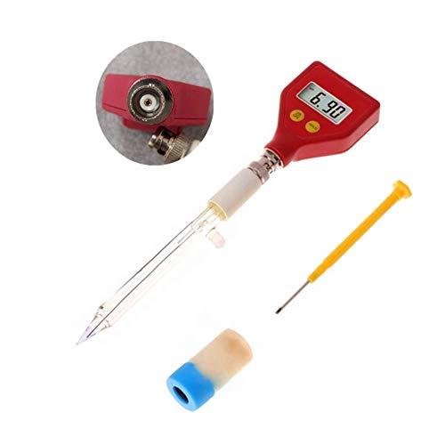HEREB pH-Messgerät mit Glaselektrode für Wasser, Nahrung, Käse, Milch, Erde, pH-Messgerät