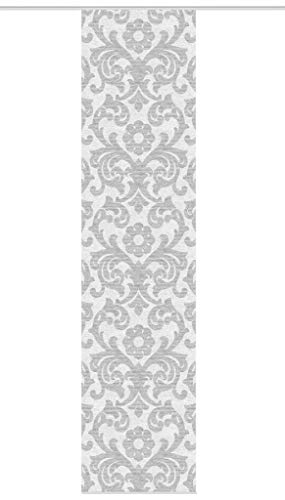 Schiebegardine ORNAMIA, halb-transparenter Stoff in Bambus-Optik, digital Bedruckt, 260 x 60 cm (h x b), Farbe: Grau