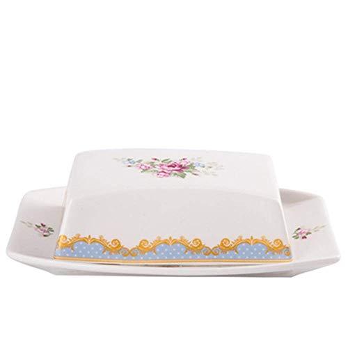 LHQ-HQ Fry Erving - Carrito de mantequilla y platos de cerámica para el polvo, pan y plato