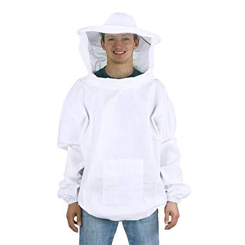 Imkeranzug Bienenschutz Bienenanzug Imker Schutzbekleidung Bienenzucht Schutzanzug mit Imkerschleier Imkerschutzanzug mit Reißverschluss Imkerjacke mit Gummizug Professionelle Imkerbekleidung