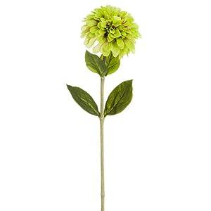 29″ Zinnia Silk Flower Stem -Light Green (Pack of 12)