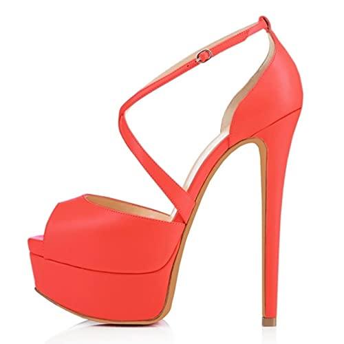 TER Mujeres Bombas Discoteca Sandalia Ultra Moda Novia Zapatos 14cm Super Tacones...