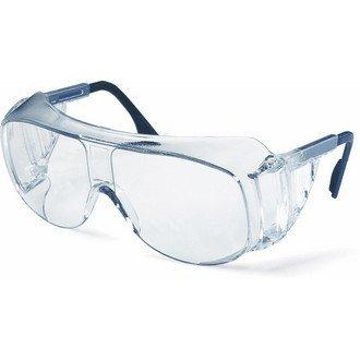 Uvex W08004 Ultraspec 9161 Schutzbrille, Kratzfest, Beschlagschutz, Antistatisch, Chemikalienbeständig, Antihaft, Easy to Clean, 2C-1,2 W 1 F CE, Klar/Blau/Schwarz
