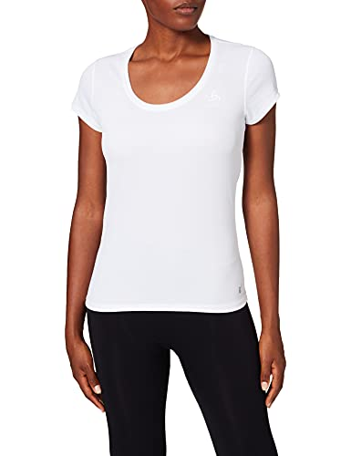Odlo Active T-Shirt Manches Courtes Femme Blanc FR : XS (Taille Fabricant : XS)
