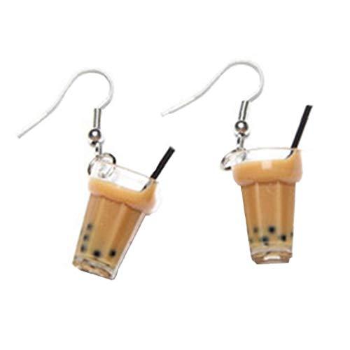 Resin 5095 05095GS11007 110mm x 74m 1 par de pendientes de té para mujer, joyería creativa, regalos de personalidad, té, bebida pendiente para niña, joyería divertida