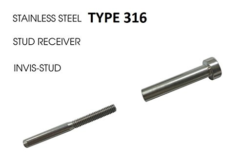 ArkHardware Invisible Stud & Stud Receiver For 1/8