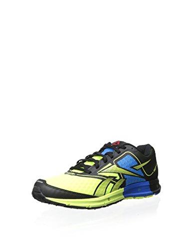 Reebok One Cushion Mens Running Shoe 10.5 Black-Yellow-Blue