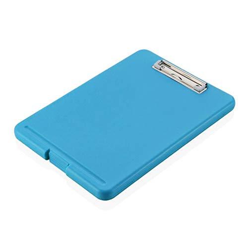 unknows Rcevbocc Portapapeles A4 de plástico para guardar notas, carpeta de escritura con lazo para colgar para oficina y escuela