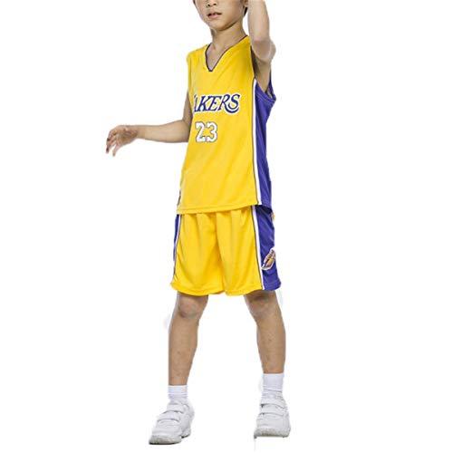 LIZTX Maglia da Basket per Bambini Lakers # 23 Lebron James 24# Kobe Bryant Maglie Uomo E Donna Basket Tuta da Allenamento per Bambini Set Abbigliamento da Prestazione