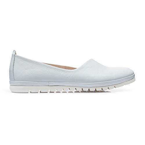 DrSoftStep Damen Schuhe | Medizinische Ballerinas | 39 | Weiße Leder | Dr Pure