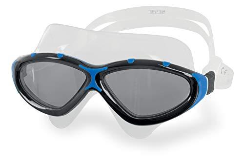 Seac Unisex-Adult Profile Schwimmbrille für Männer und Frauen für den Einsatz im Pool und im Freiwasser, schwarz/blau LF, Einheitsgröße