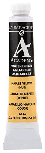 Grumbacher Academy Watercolor Paint, 7.5ml/0.25 Ounce, Naples Yellow Hue (A146)