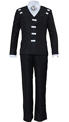 HonRmon Soul Eater Death The Kid Cosplay Costume and Props Mens Suit Uniform Halloween Outfit Custom (Mens-XS, Black)