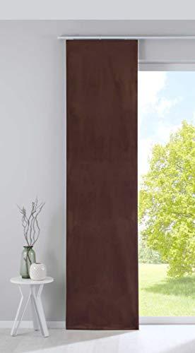 Gardinenbox Milano 203571 Cortina Opaca, Panel japonés, Terciopelo, 245 x 60 cm, Color Gris Topo