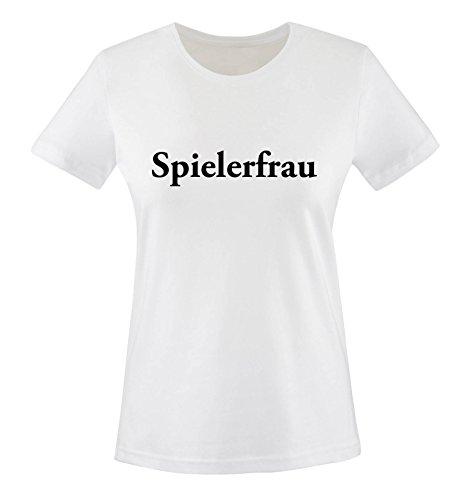 SPIELERFRAU. Damen T-Shirt Weiss Gr. L