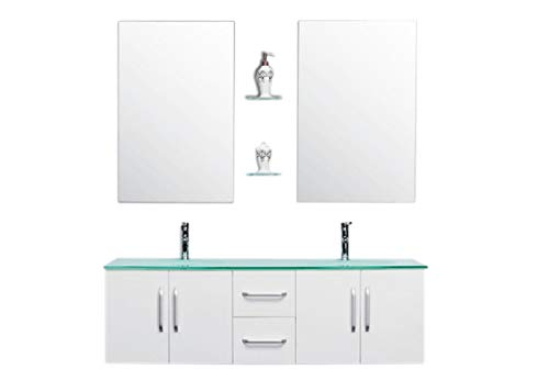 GRAFICA MA.RO SRL Meuble Salle DE Bain Modele White Ice 151 cm Double Vasque Beau Meuble Double Vasque