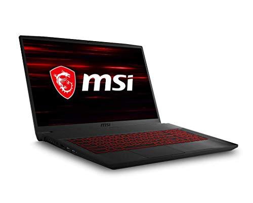 "MSI GF75 Thin 9SD-006XES - Ordenador portátil de 17.3"" ( Coffeelake Refresh i7-9750H, DDR IV 16 GB, 1 TB NVMe PCIe Gen3x4 SSD, GeForce GTX 1660 Ti GDDR6 6GB, FreeDos) Negro - Teclado QWERTY Español"
