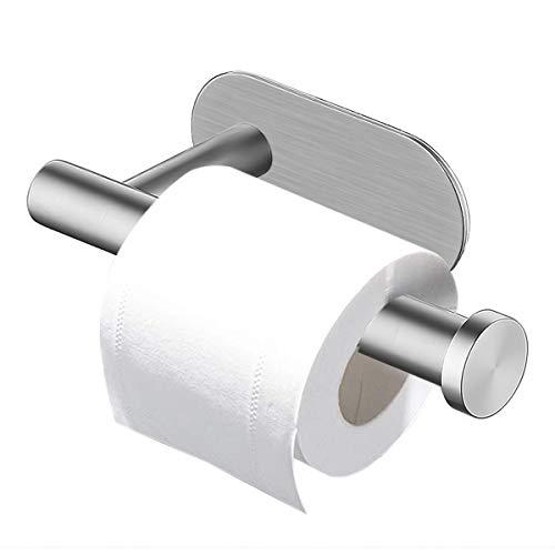 Soporte de papel higiénico, 304 soporte de papel higiénico autoadhesivo Netspower sin perforación, soporte de papel de acero inoxidable, soporte de papel higiénico para cocina de baño, plateado ⭐