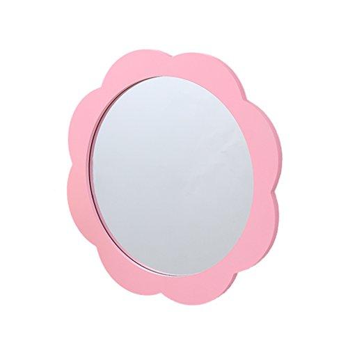 HBWJSH Kindergarten-Wandspiegel, Wandspiegel, Kinderspiegel, Größe: 39 x 39 cm (Farbe : Pink)