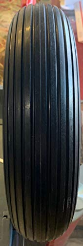 HORSESHOE 2 PK of Universal Flat Free Ribbed Wheelbarrow Tire and Wheel Assembly w/Adapter Kit Fits 4.80/4.00-8, 3.50/2.50-8, 4.00-6, 4.00-8