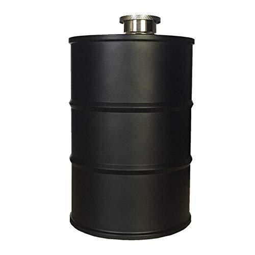 Botella de agua creativa de 25 onzas de mi botella de agua de vodka de aceite de whisky Flagon portátil de acero inoxidable 304 alcohol licor frasco de la cadera-Negro_A
