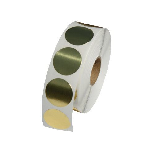 Gold Foil Round Color Coding Inventory Labeling Dot Labels/Stickers- 1 Inch Round Labels 1000 Stickers Per Roll