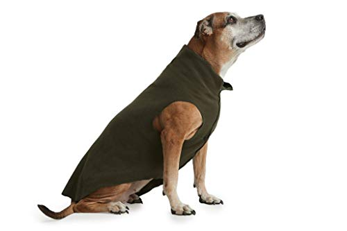 ESPAWDA Soft and Snuggly Stretch Fleece Pull-Over Dog Vest Sweater Jacket for Small Dogs, Medium Dogs, Big Dogs (Large, Olive)