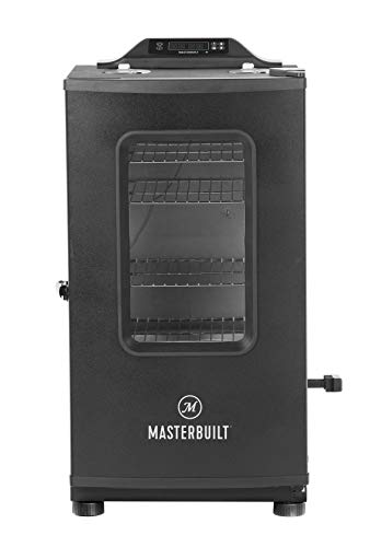 Sale!! Masterbuilt MB20073519 Bluetooth Digital Electric Smoker with Broiler, 30 inch, Black