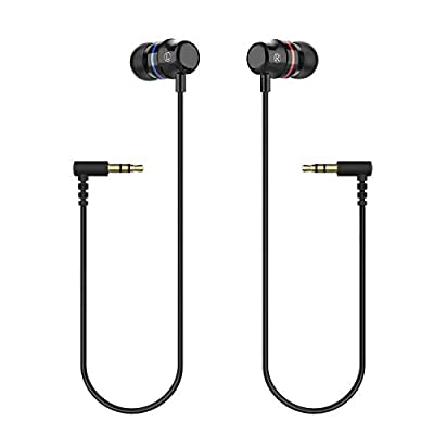 KIWI design Oculus Quest Headphones, Stereo Earbuds Custom Made In-Ear Earphones for Oculus Quest 1 VR Headset (Black, 1 Pair), Not Fit Quest 2 from KIWI design