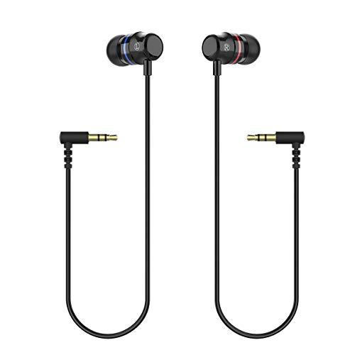 KIWI Design Oculus Quest Kopfhörer Stereo-Ohrhörer Maßgeschneiderte Headphones für Oculus Quest VR Headset VR Zubehör (Schwarz, 1 Paar), Nicht für Quest 2 geeignet
