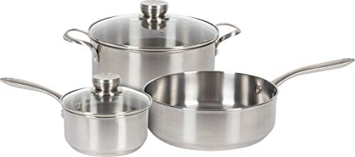 Frigidaire 11FFSPAN02 ReadyCook Cookware, 5-piece, Stainless Steel, 5 Pieces
