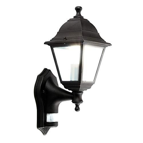 Luceco Buitenlamp Houder Lantaarn, met PIR Motion Sensor, 60 Watt, Zwart