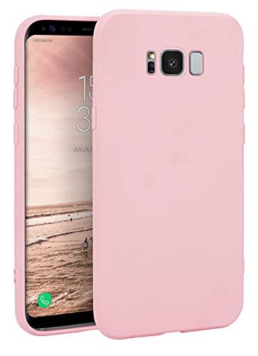 MyGadget Cover per Samsung Galaxy S8 - Custodia Protettiva in Silicone Morbido – Case TPU Ultra Flessibile - Protezione Antiurto & Antiscivolo - Rosa Cipria