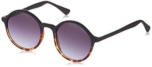 KOMONO Damen MADISON Sonnenbrille, Schwarz (Matte Black/Tortoise 000), 50