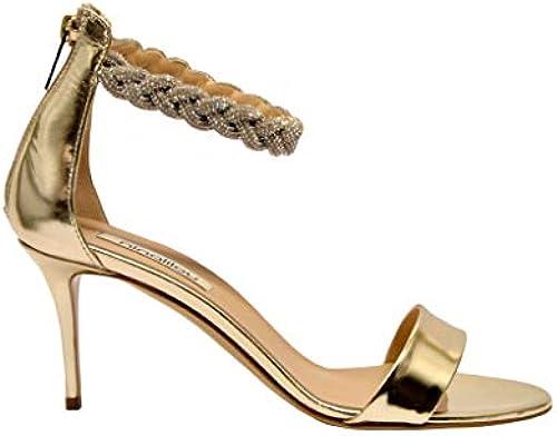 NINALILOU Damen 291061 Gold Leder Sandalen
