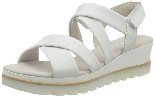 Gabor Shoes Damen Casual Riemchensandalen, Weiß (Weiss 21), 37 EU