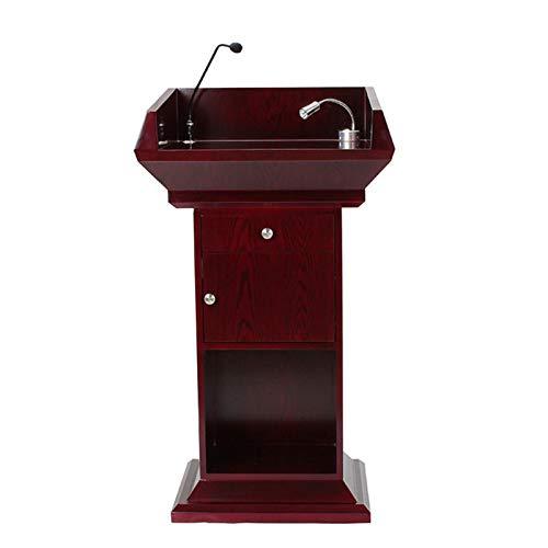 TnSok Stehendes Podium Holz Tragbare Bodendesign Podium Stehender Lehrer Sprecher Vortrag Klassenzimmer Präsentation Computer Buchhalter (Color : Red, Size : 68x50x118cm)