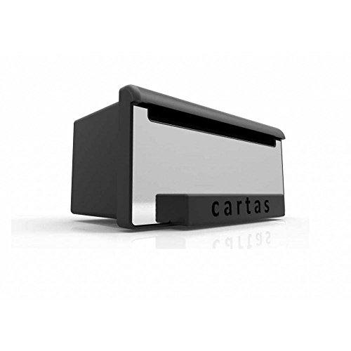 Caixa de Correios Inbox Luxo Aco Escovado Goma