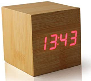 Excelsior Worldwide Limited Despertador, diseño Box, LED - Wood with RED led